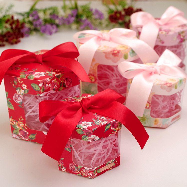 结婚喜糖盒个性创意欧式浪漫六角糖盒唯美西式婚礼喜糖盒礼物盒子