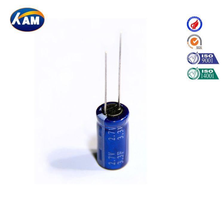 厂家供应3.3F/2.5V超级电容器、法拉电容