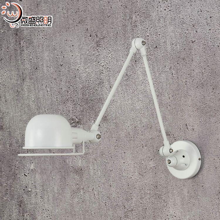 灯具批发市场时尚创意现代客厅led床头卧室长臂旋转创意铁艺壁灯