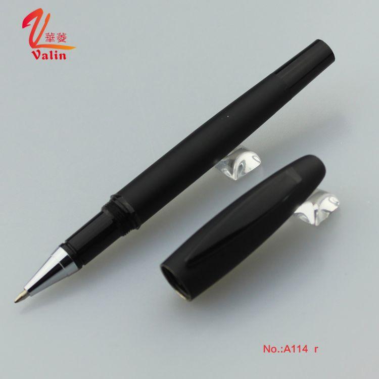 华菱笔业 2016年新款金属签字笔 宝珠笔 表面喷胶处理 定制logo