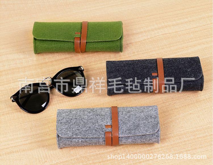 毛氈眼鏡袋眼鏡盒工業眼鏡贈品包眼鏡保護套可定制logo尺寸顏色