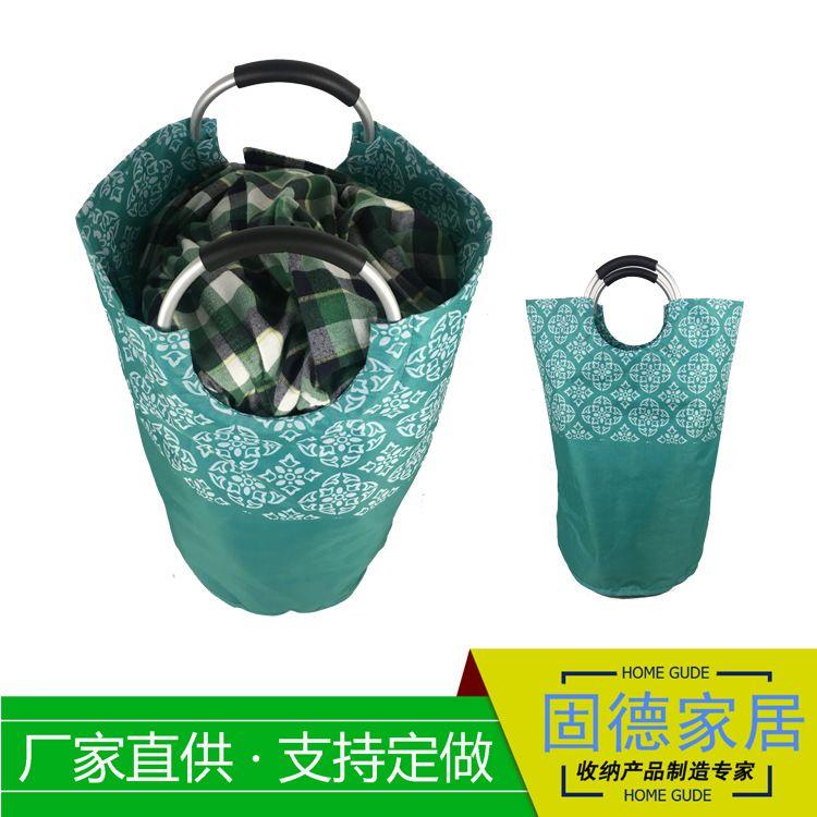印花手提布艺收纳桶外贸工厂定制收纳脏衣物