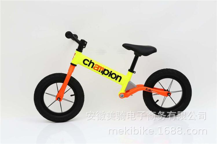 一件代发12寸儿童平衡车滑步车无脚踏学步车全铝合金带避震运动款