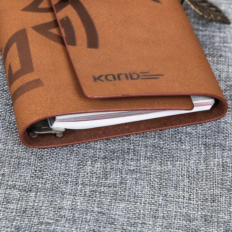 高档PU变色活页笔记本,商务套装记事本,复古创意捆绑笔记本