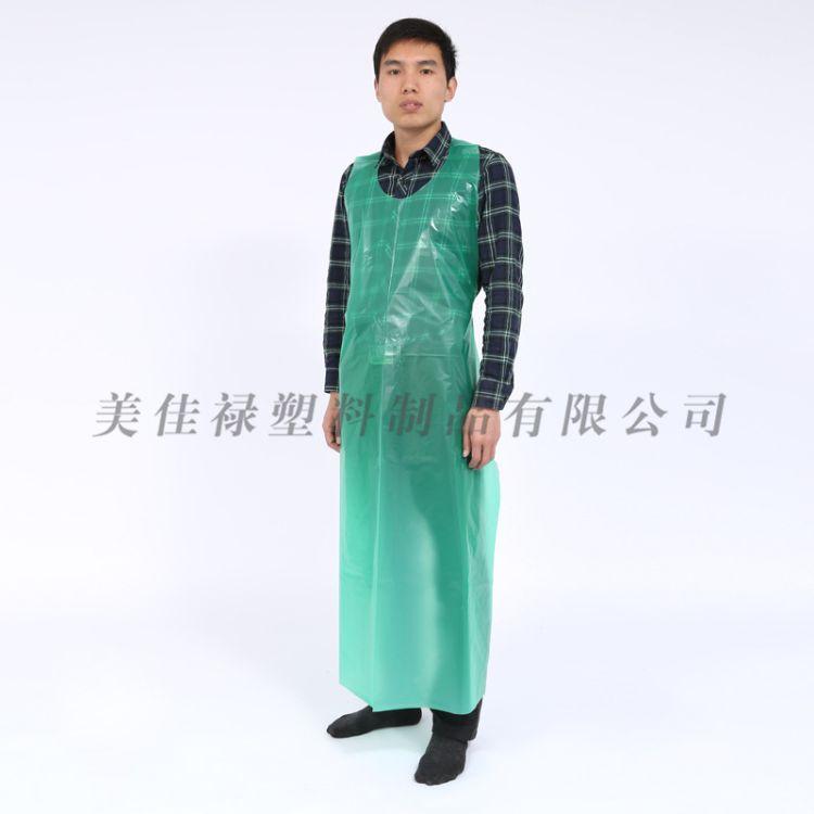 厂家定制一次性cpe围裙 一次性清洁围裙 一次性无袖围裙 防护围裙