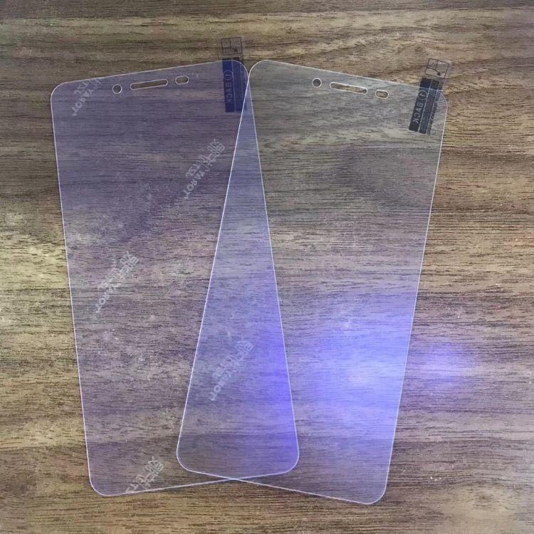 小米8外贸AG磨砂钢化膜适用红米note4X/5A全屏紫光防指纹手机贴膜