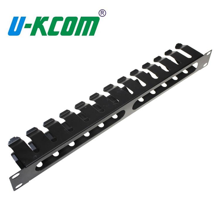 工厂定制六类配线架1U19寸金属理线架网络工程机柜专用