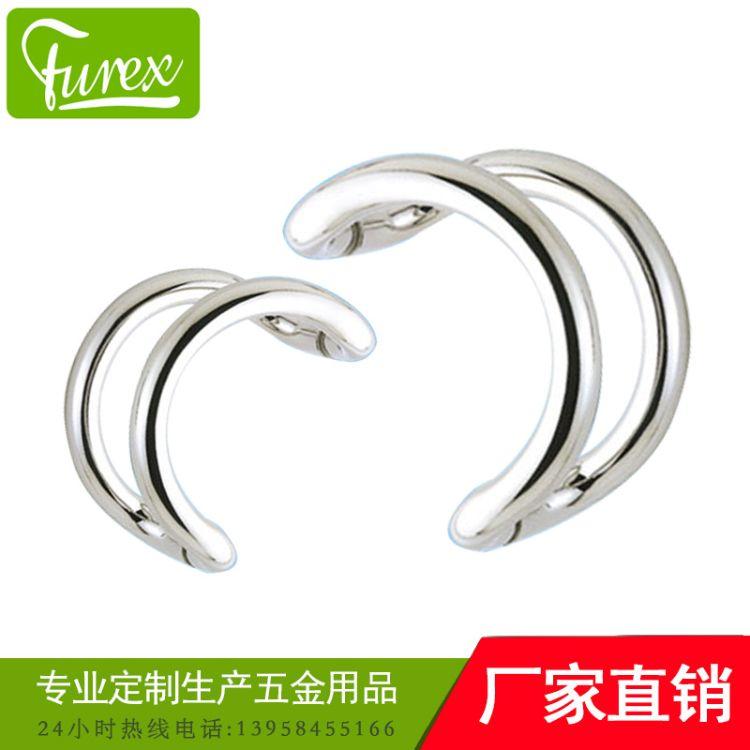 圆管弯头拉手【富瑞克斯工厂直接生产】管件玻璃门拉手不锈钢质量