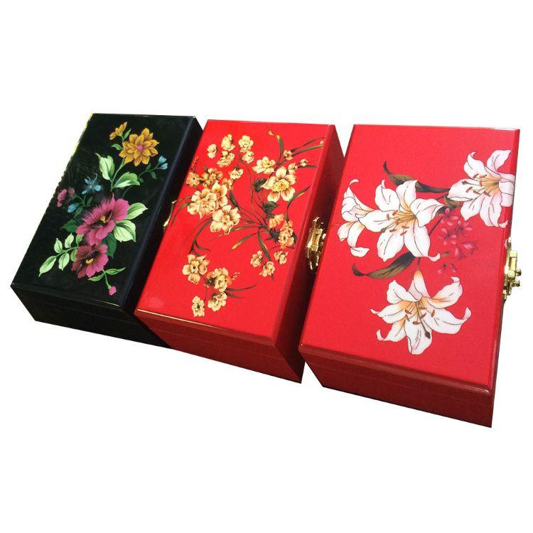 厂家定制漆器茶叶盒漆器礼盒包装盒漆器化妆盒