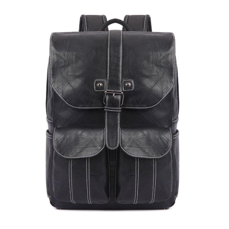 厂家直销双肩包户外旅行包大容量书包学生pu皮背包男笔记本电脑包