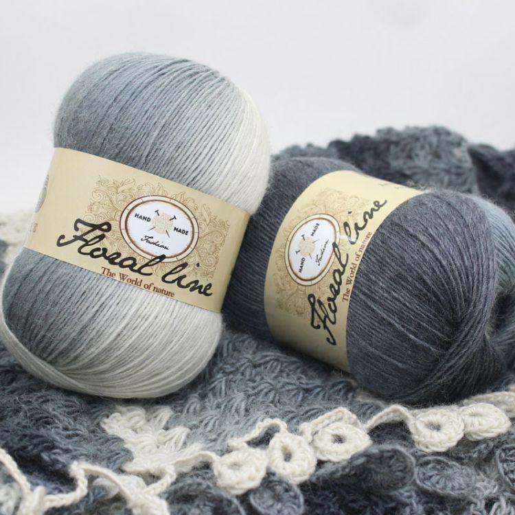批发羊毛彩虹线系列长段染线纯羊毛线外套线帽子线披肩线厂家特价