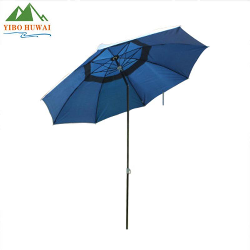 批发2米单层双层铝杆钓鱼伞 遮阳伞 买一送三 地插+拉绳+手提包