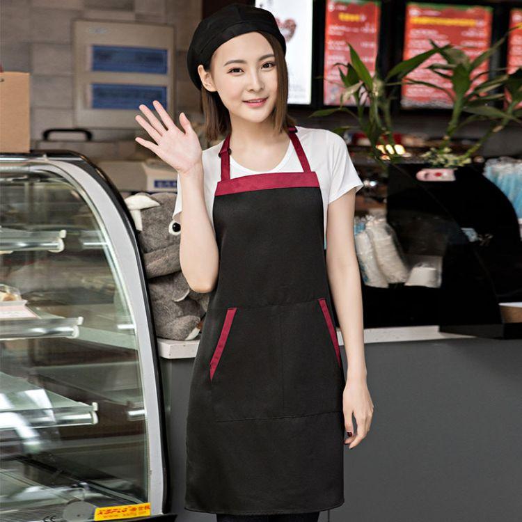 厂家直销无纺布围裙定做 防污防水印字印logo简约广告围裙定制