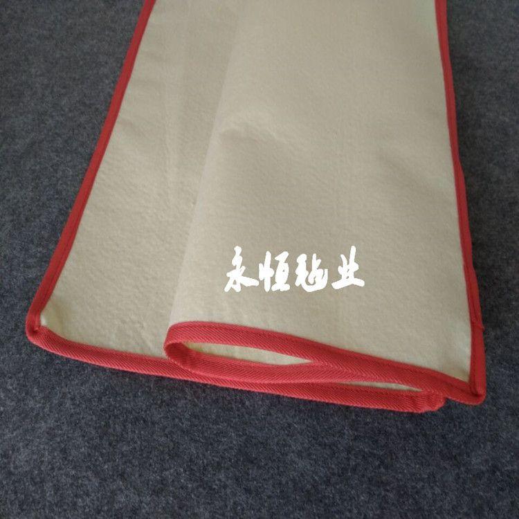 厂家直销3MM画毯 书画毛毡书法毛毡书画毡垫一米起定 白灰黑三色