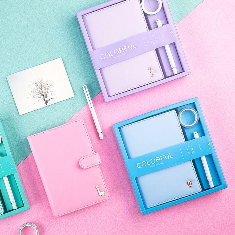 A5笔记本办公皮面记事本商务套装笔记本创意礼盒装厂家定制LOGO