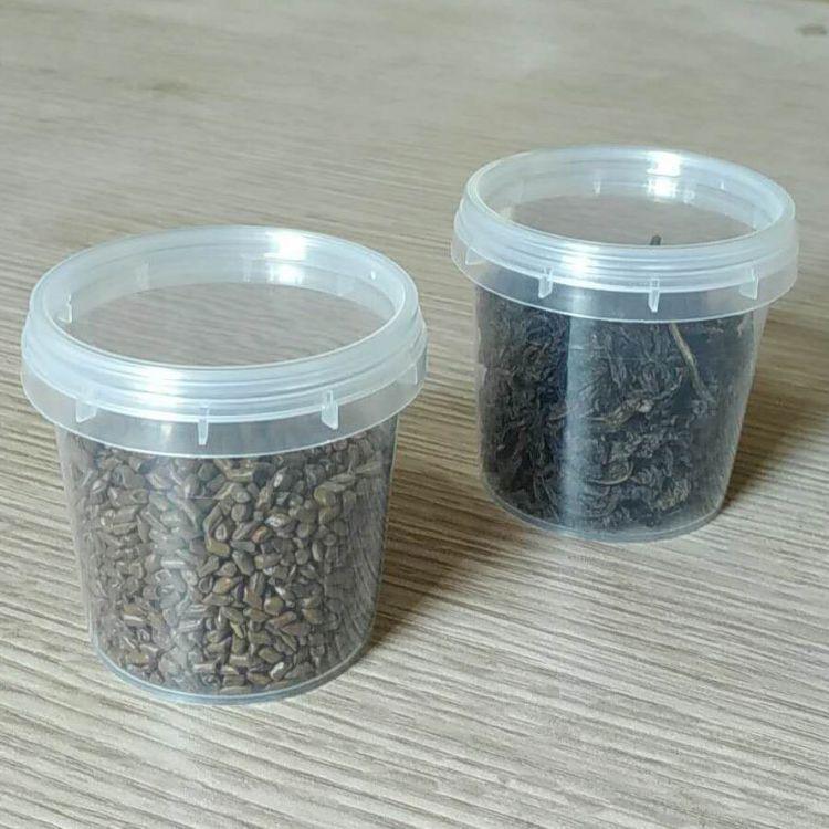 粘土小圆盒子迷你盒芯片盒礼品塑料包装盒PP圆形有带盖圆瓶分装