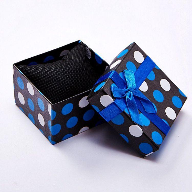 手表盒子 彩色大圆点蝴蝶结饰品礼品包装盒 多色时尚外贸厂家批发
