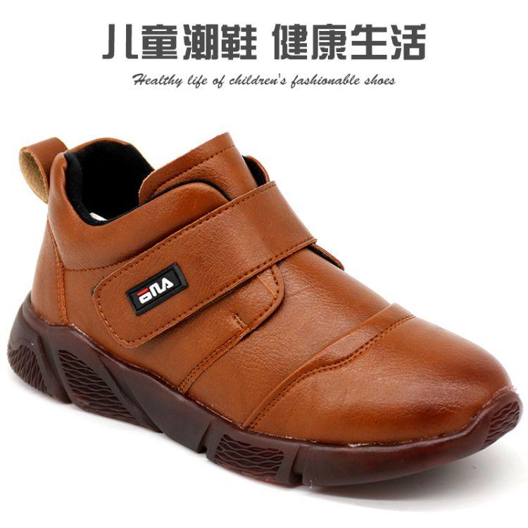 儿童运动鞋女童鞋秋冬季2018新款中小童休闲鞋女童鞋子加绒二棉鞋