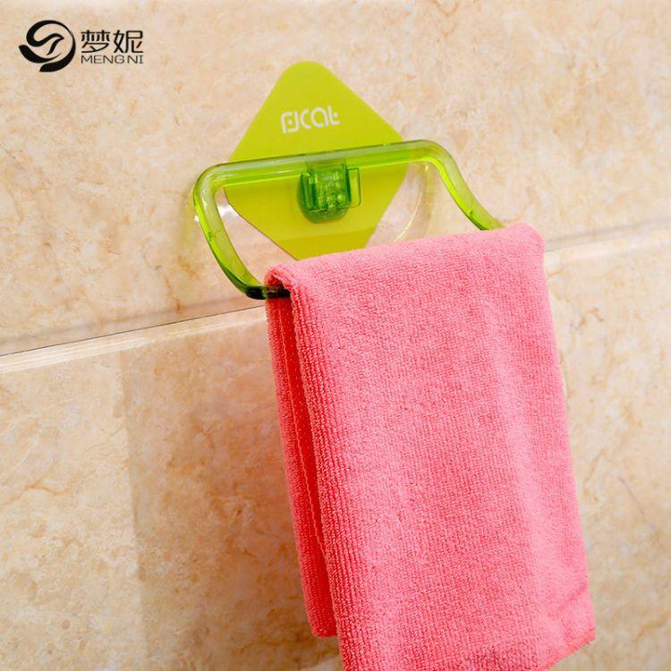 强力吸盘无痕免打孔塑料浴室毛巾架卫生间厨房置物架卫浴挂件免钉
