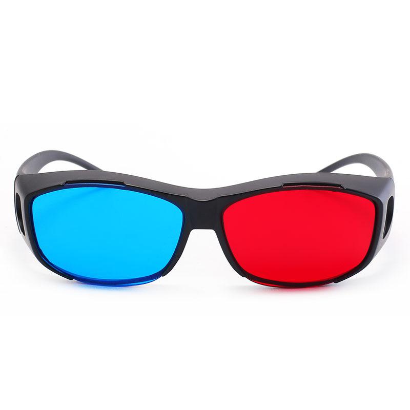 厂家直销通用红蓝3D眼镜 电脑手机通用眼镜 矫正弱视色盲