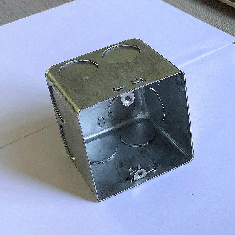 拉伸方盒 开关底盒焊接暗盒铁盒金属线盒镀锌86H70型接线盒