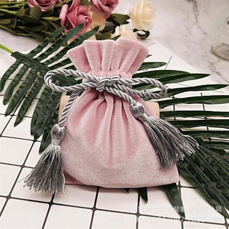 丝绒布袋 化妆品绒布袋 金属制品绒布袋 流苏绒布袋绒布厂家定制