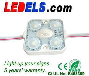 24付2瓦带凸镜4灯注塑模组  ,110V— 220付高压4灯1.6瓦模组