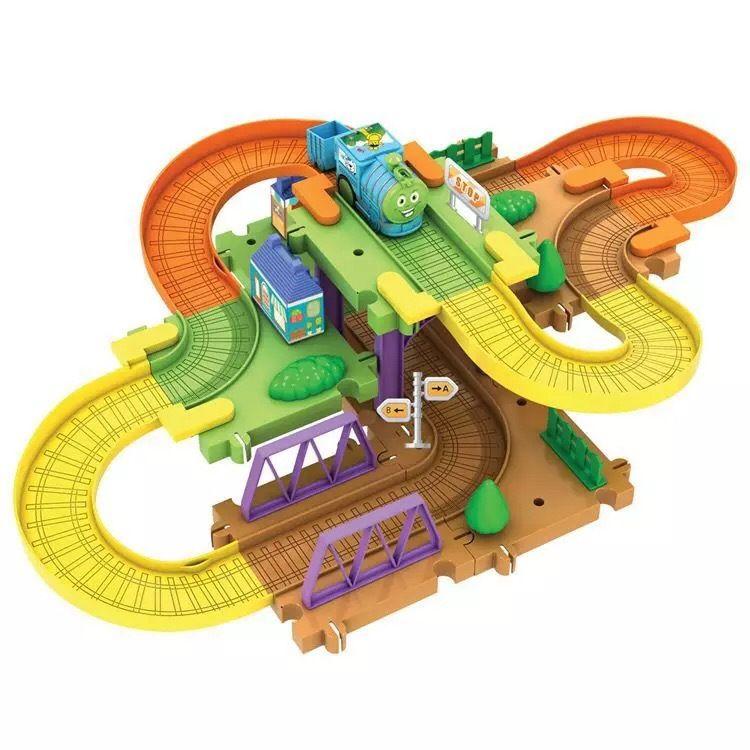 小火车轨道车积木托马斯电动轨道小汽车积木套装系列儿童男孩玩具