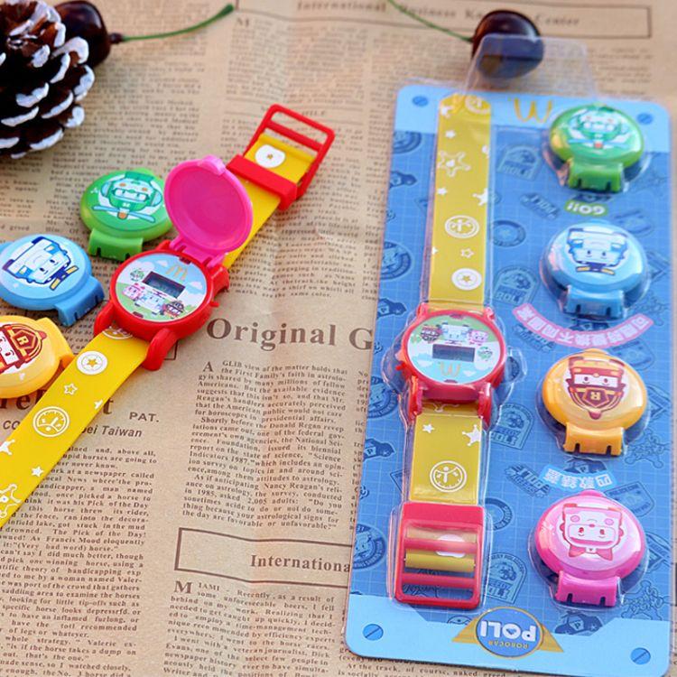 批发拼图组合可印刷卡通图案儿童硅胶电子玩具DIY手表电子手表