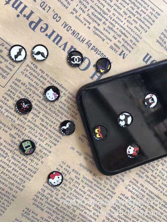 iphone6S/7玫瑰金卡通指纹识别按键贴 指纹感应按键贴可定制图案