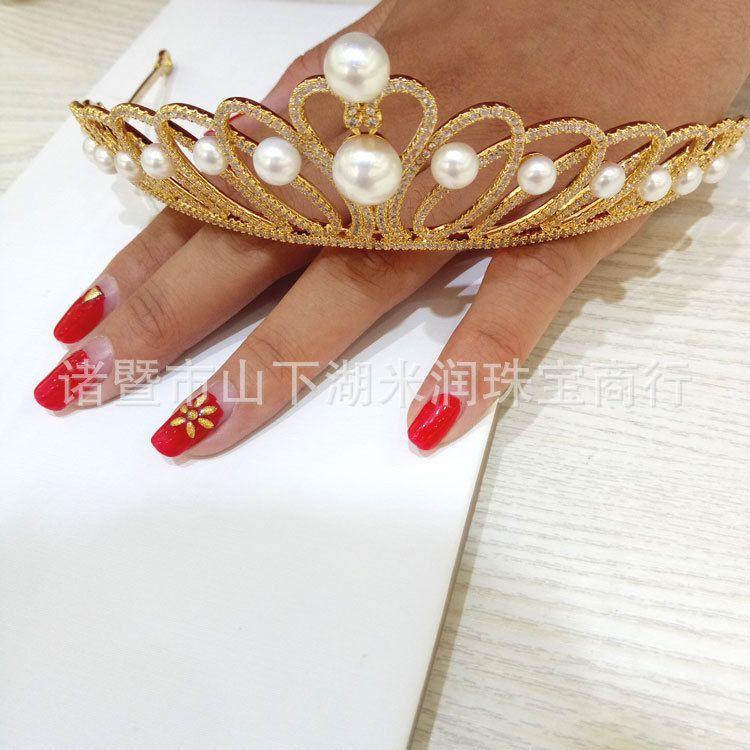 气质型珍珠王冠    简单时尚    美丽大方   厂家批发