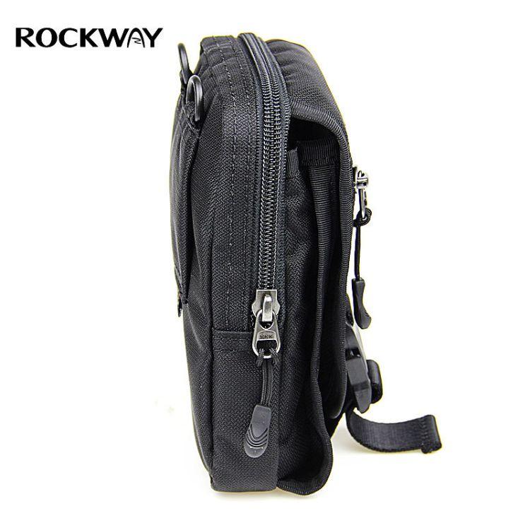 Rockway多功能户外男休闲防泼水手机腰包 挂包战术 运动腰包