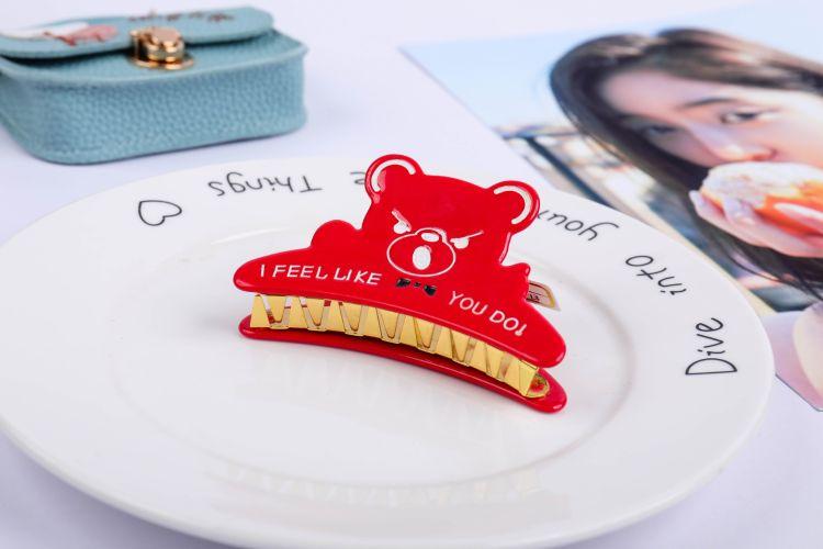 厂家直销 韩版可爱动物造型发饰抓夹大号发夹发卡顶夹头饰夹卡子
