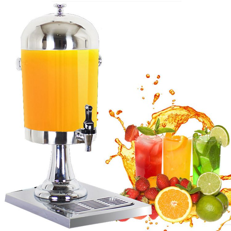 单头不锈钢果汁鼎 冷饮机 果汁饮料机单缸 8升自助饮料机