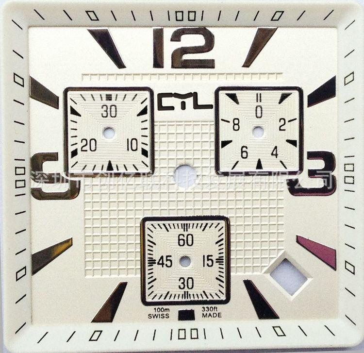 钟表表盘 字盘加工   字面订做,浮雕字面,3D字面