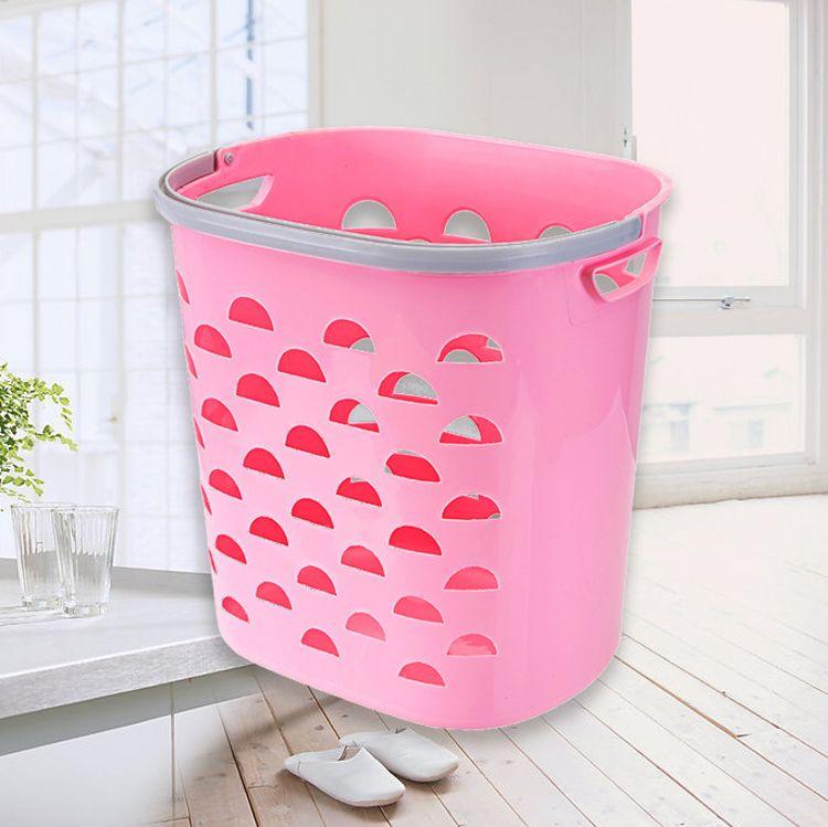 大号 手提塑料篮 脏衣篮 彩色篮子收纳筐