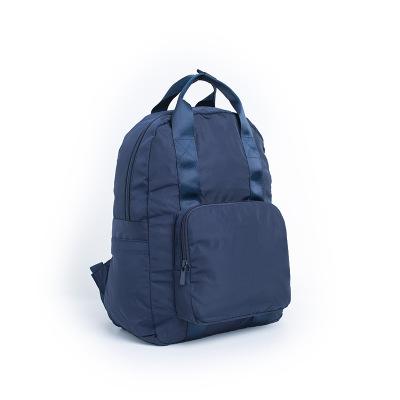 厂家旅行双肩背包折叠包 可套拉杆多功能手提双肩背包 大容量记忆布抗皱旅行袋