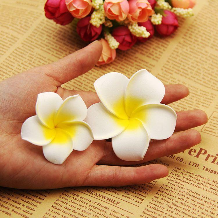 清新仿真泡沫PE鸡蛋花网店拍摄拍图道具拍照背景道具仿真花朵摆件