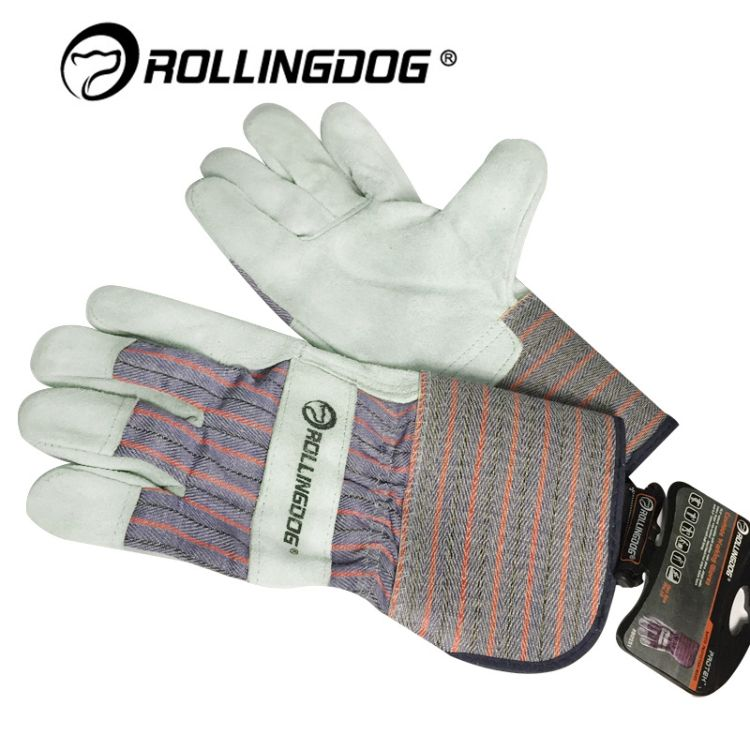 ROLLINGDOG滚动狗80251系列牛皮革手套耐磨防割防刮擦手套