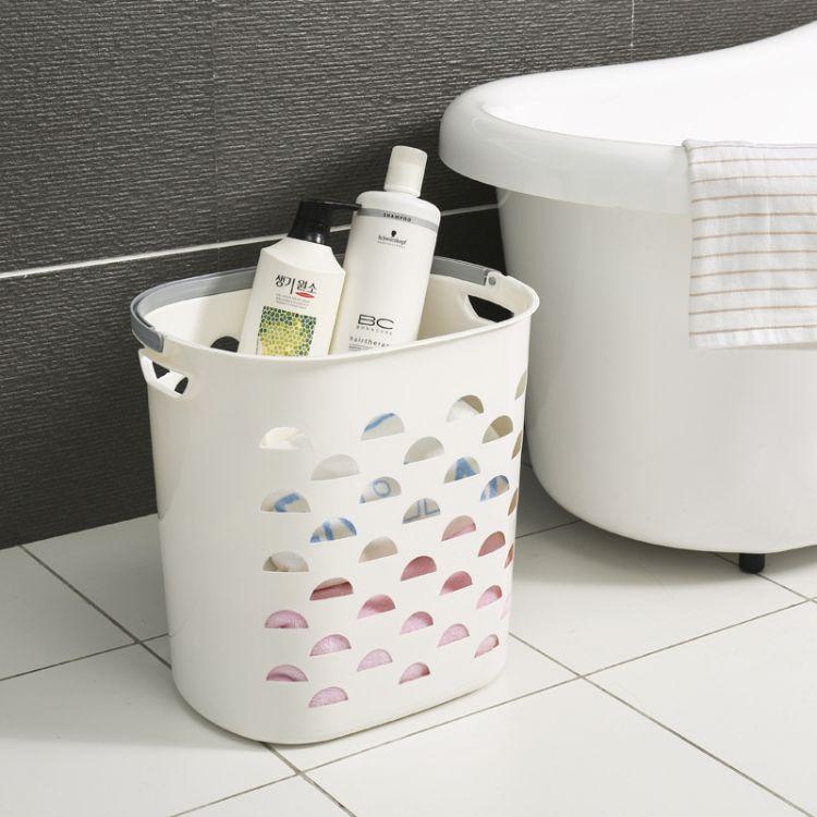 厂家直销塑料手提脏衣篮浴室洗衣篮脏衣服收纳筐衣物收纳篮脏衣篓