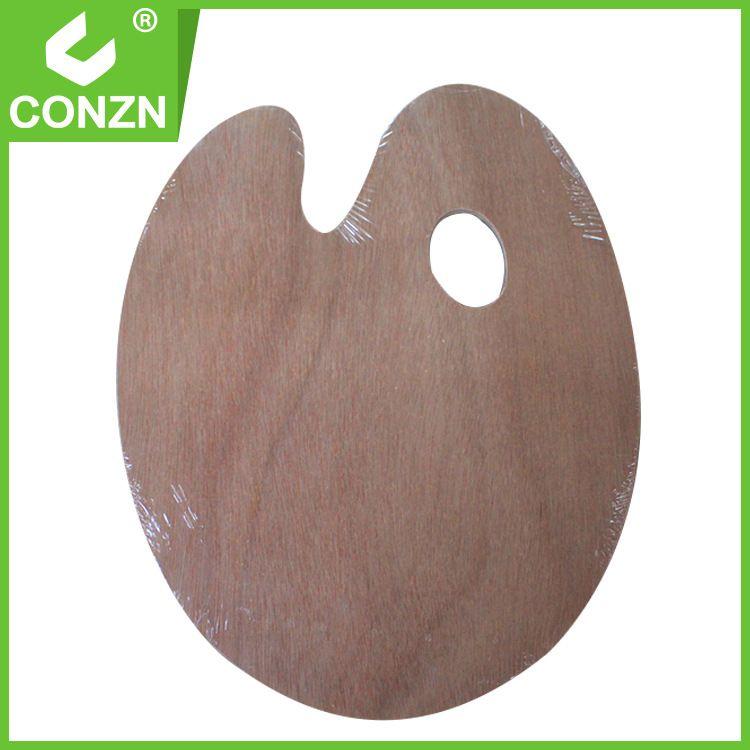 油画工具 优质木质调色板椭圆形 颜料盘 24*30cm调色盘 加厚型