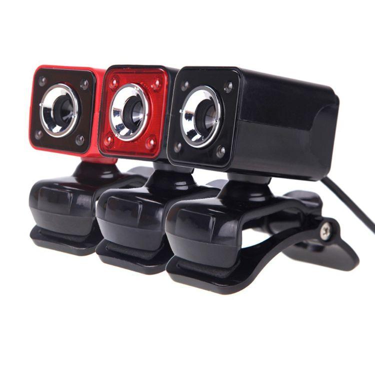 电商热销A862高清夜视电脑摄像头内置10米吸音麦克风4LED自由开关
