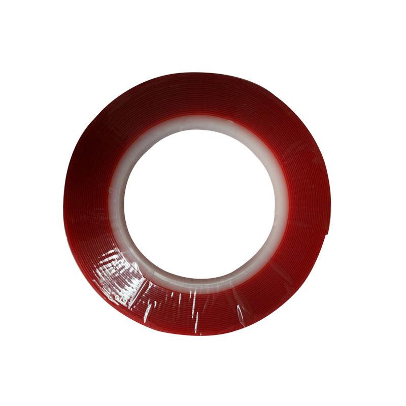 PET红底透明双面胶0.8毫米厚8米长10毫米宽