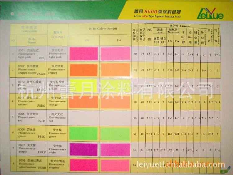 水性色浆-颜料色浆-荧光系列——荧光桔黄