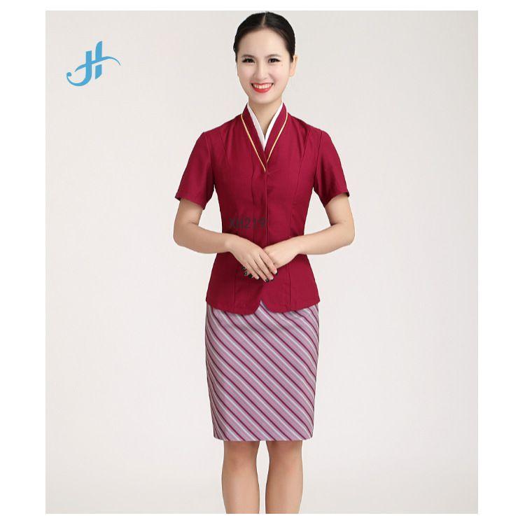 职业套装航空空姐制服女短袖礼仪高铁服装女乘务员空乘面试工作服