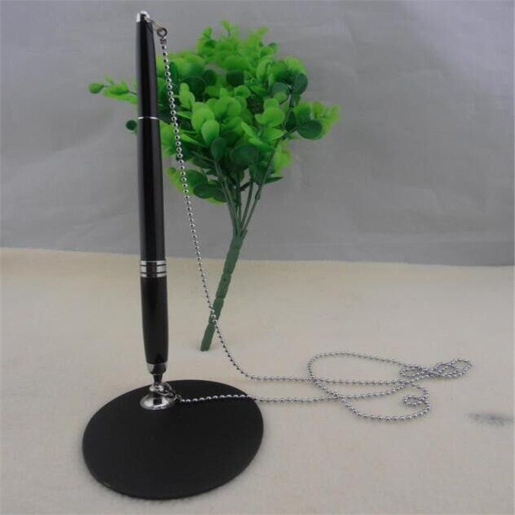平阳厂家生产高档商务金属台笔 塑料圆珠笔 金属台笔定制