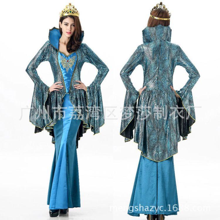 万圣节服装女复古奢华女王公主裙cosplay埃及艳后宫廷舞台演出服