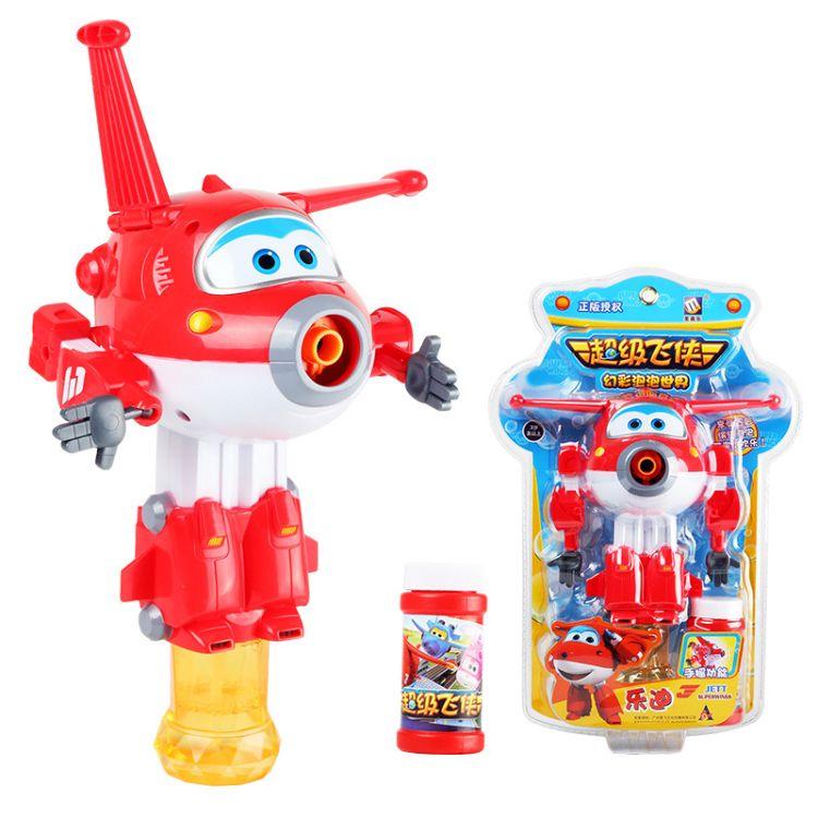 正版美高乐泡泡机 超级飞侠乐迪MG915儿童趣味手摇自动吹泡泡玩具