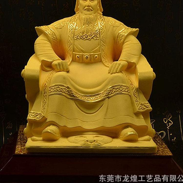 成吉思汗摆件 绒沙金工艺品 人物头像摆件 内蒙古民族特色工艺品