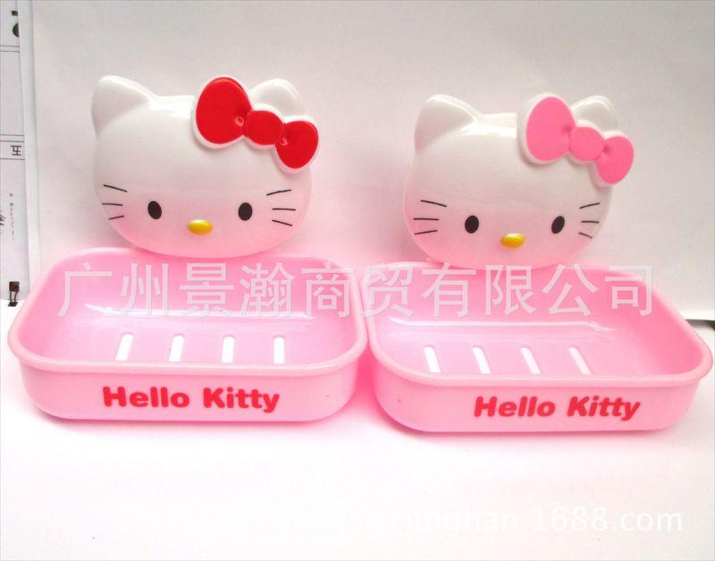 卡通吸盘香皂盒创意可爱卡通肥皂盒 家居卫浴日用香皂盒KT皂盒